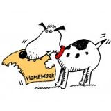 dog eats homework