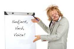 Subject verb voice