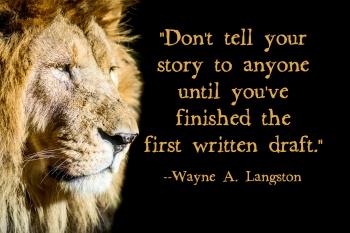 The lion speaks