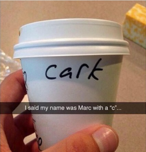 Mark with a C